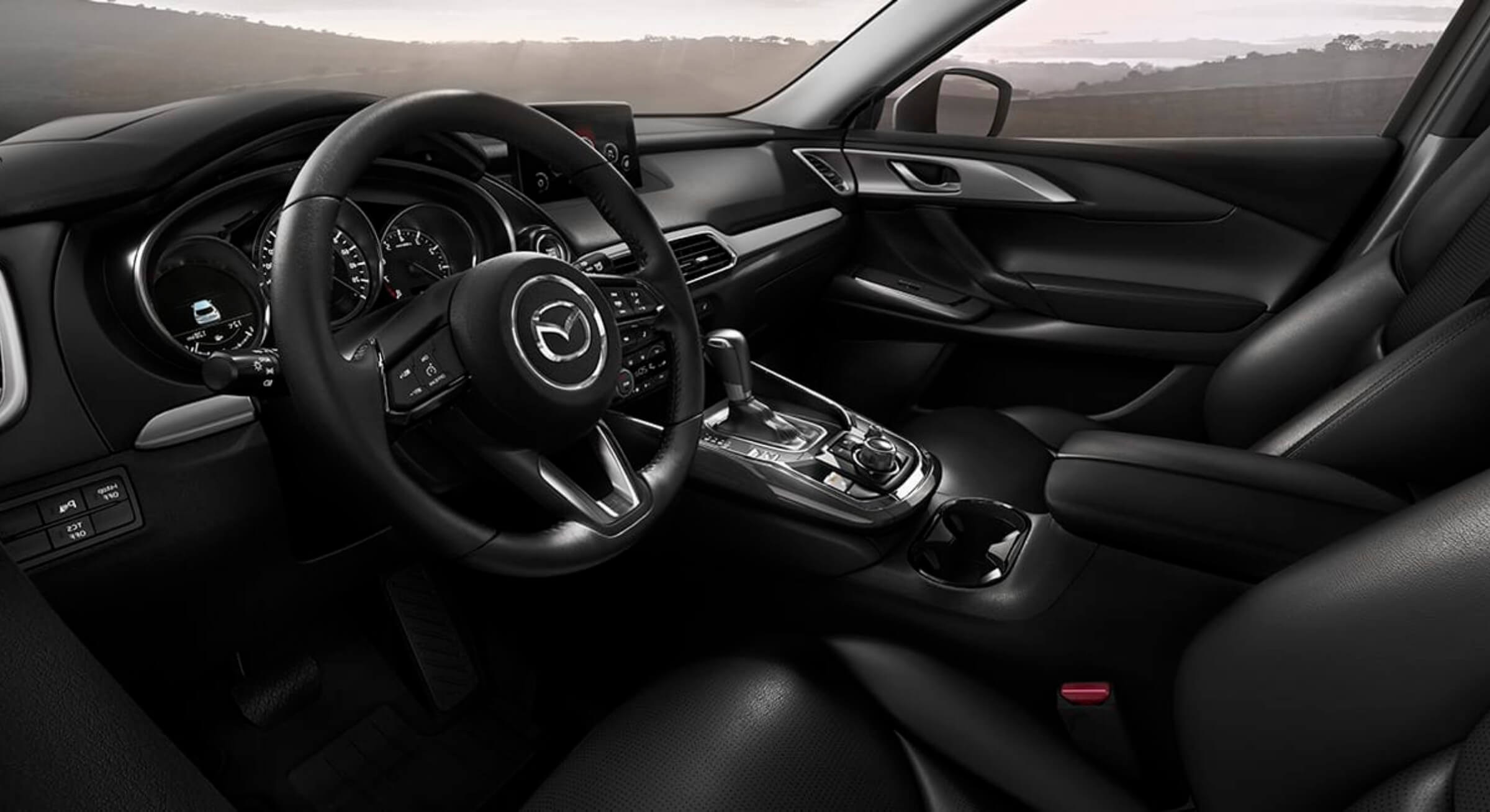 Black Leatherette Mazda Cx9 Interior Foto 2